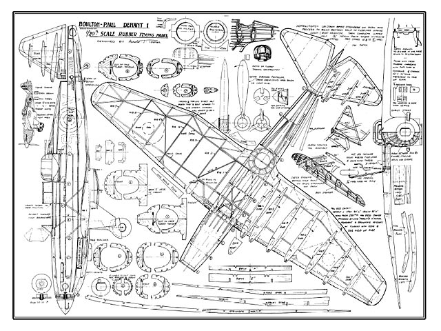 Boulton Paul Defiant (oz634) by Harold J Towner