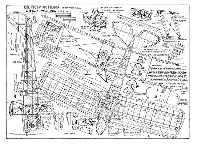 DH.82A Tiger Moth (oz635) by Harold J Towner