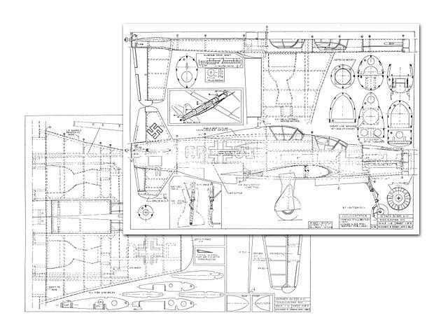 Dornier Do335 VII Pfeil (oz6571) by Jack Lynn Bale from Scale R/C Modeler  1993