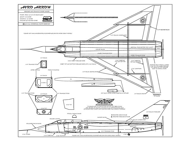Avro Arrow (oz6696) by Roger Winger from Winger Models 2015
