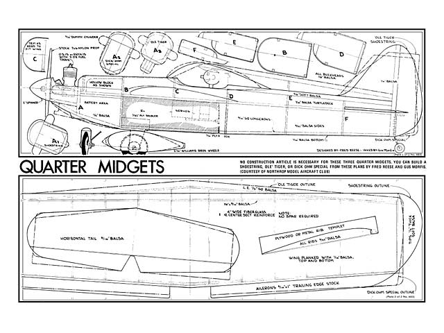 Quarter Midgets (oz6734) by Fred Reese, Gus Morfis from RCMplans 1972