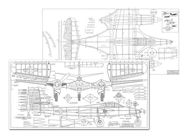 McDonnell XP-67 (oz6742) by Jack Lynn Bale 1997