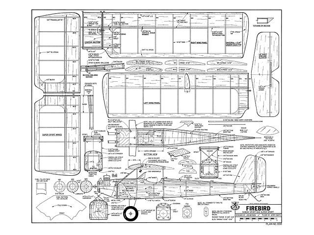 Firebird - Joe Mergen - RCMplans - June 1981 - 51in