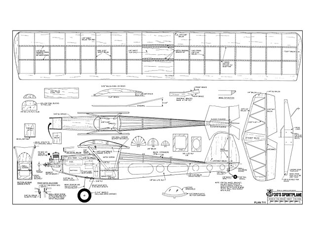30s Sportplane - Paul Denson - RCMplans - December 1977 - 58in