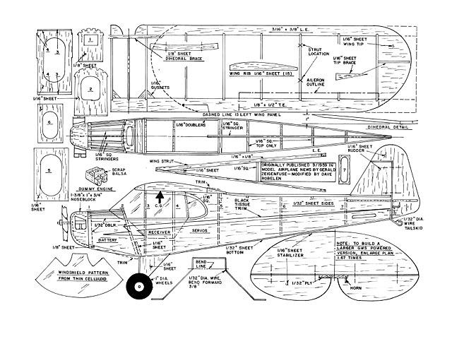 Piper Cub plan - Free download - Outerzone