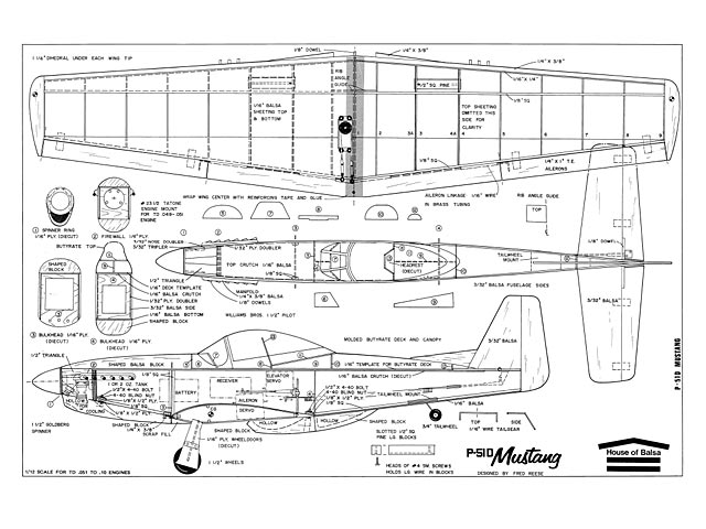 P 51d Mustang Plan Free Download Outerzone