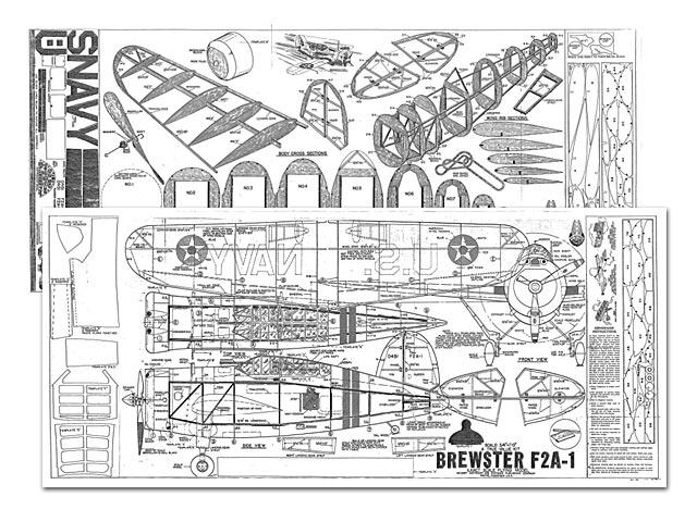 Brewster F2A-1 - plan thumbnail image