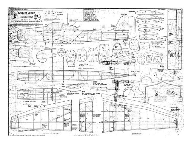 Junkers JU87D - plan thumbnail image