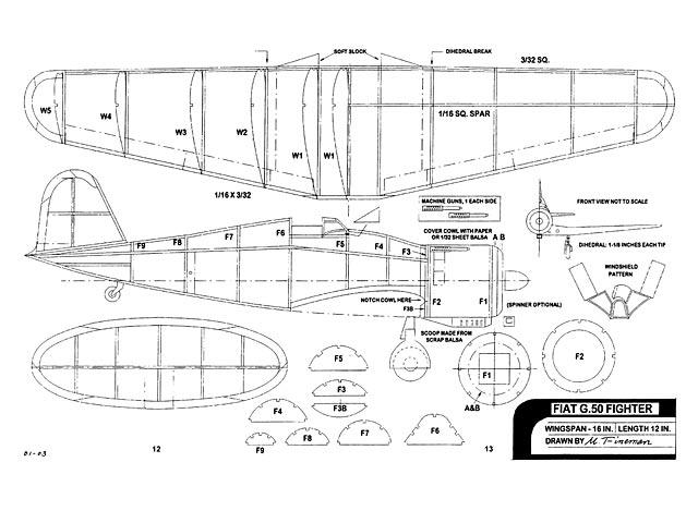 Fiat G.50 - plan thumbnail image