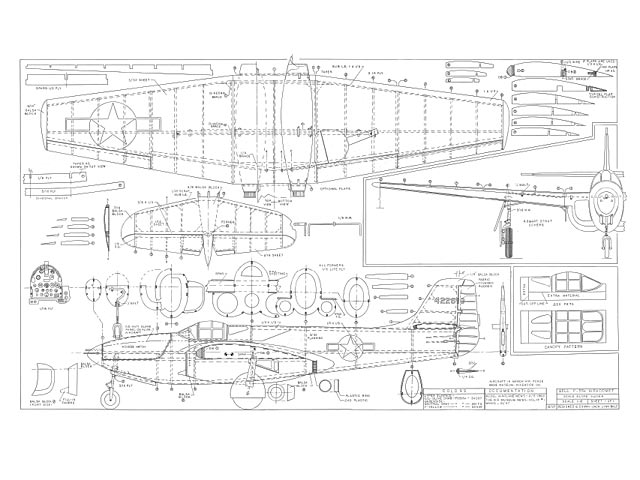 P-59A Airacomet (oz7273) by Jack Lynn Bale 1997