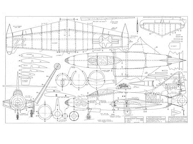Grumman E9F-2KD Panther (oz7281) by Jack Lynn Bale 1997