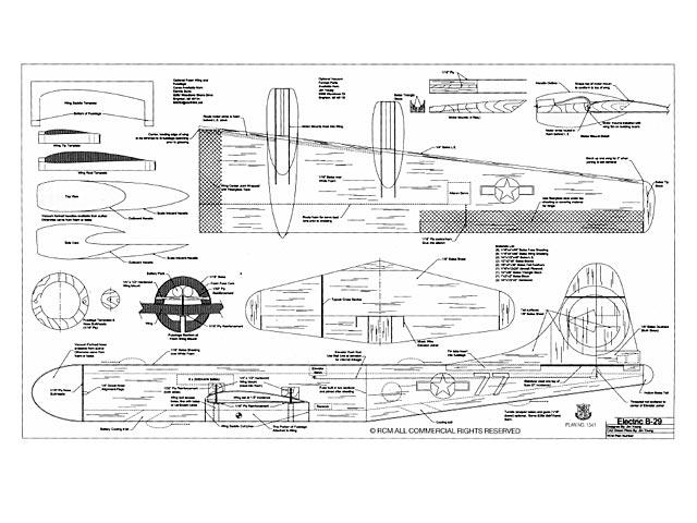 boeing b-29 electric plan - free download