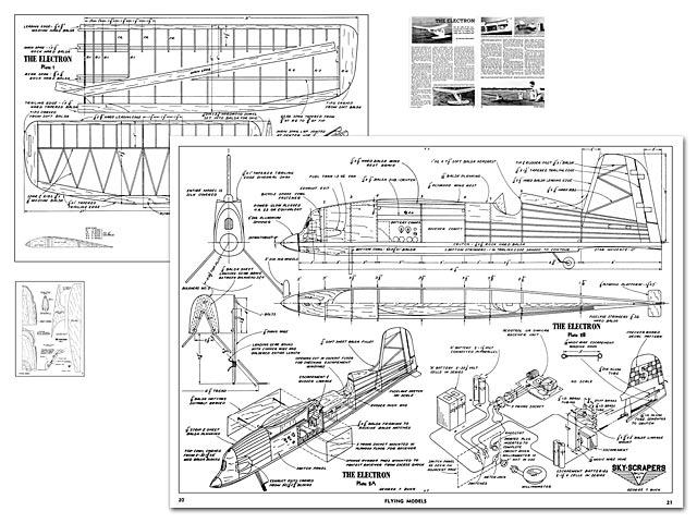 Electron - Norman Rosenstock - Flying Models - December 1950 - 62in