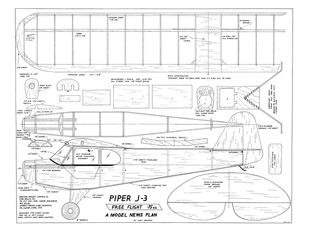 Piper J3 Cub plan - Free download - Outerzone