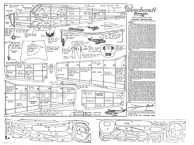 Beechcraft Bonanza - plan thumbnail image