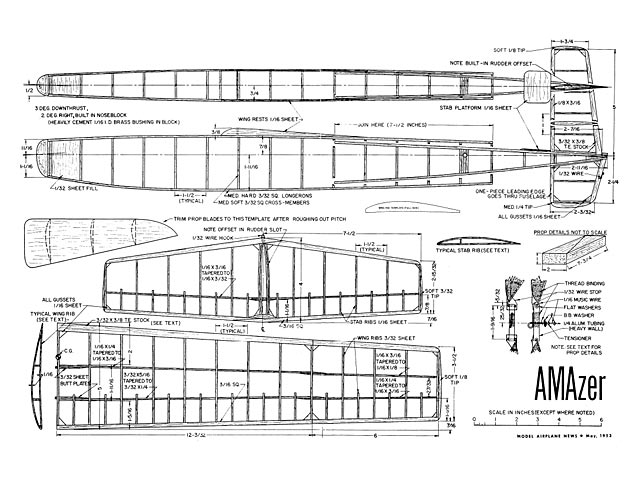 AMAzer (oz7447) by Woody Blanchard from Model Airplane News 1953