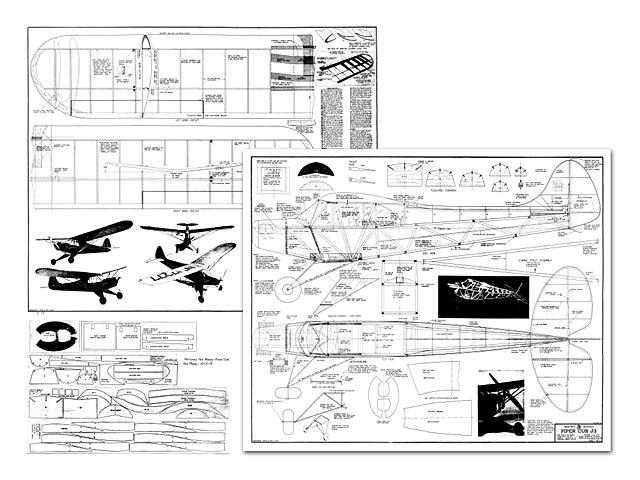 Piper Cub J3 - plan thumbnail image