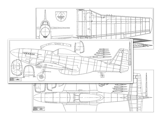 P-51D Mustang (oz7474) by Y Rusticus from Bigscale Plans