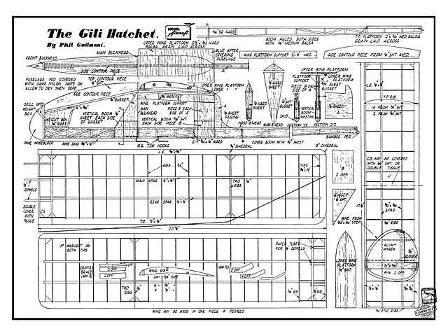 Gili Hatchet (oz7526) by Phil Guilmant from Model Aircraft 1948
