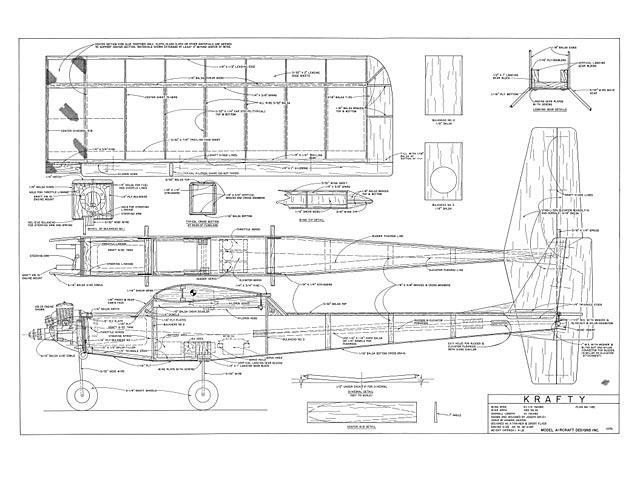 Krafty (oz7589) by Joe Bridi from Model Aircraft Designs 1970