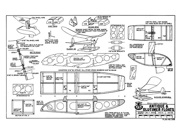 Antique and Old Timer Floats - plan thumbnail image