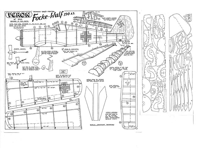 Focke-Wulf 190 A3 (oz765) by Phil Smith from Veron