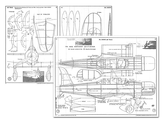 Northrop XA-17 Attack (oz7685) by Alan Booton, Ralph Pickard from Air Trails 1936