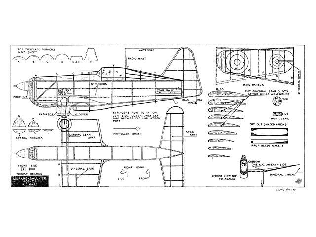Morane Saulnier 406 - plan thumbnail image