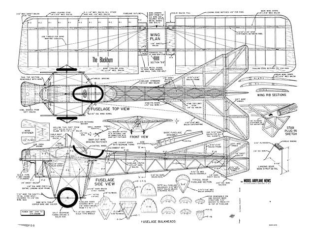 Blackburn Monoplane (oz7711) by Paul del Gatto from Model Airplane News 1956