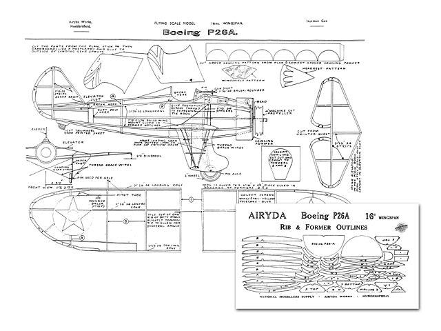 Boeing P-26A Peashooter - plan thumbnail image