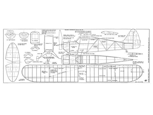 Interstate Cadet (oz7891) by Phillip Kent from Aeromodeller 1995
