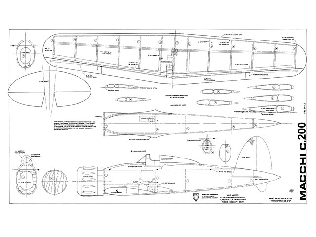 Macchi C.200 (oz7956) by Gus Morfis from Air-Kill Products 1992