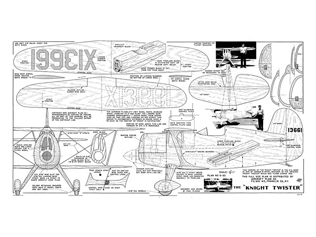 Knight Twister (oz7969) by Paul Plecan from Aircraft Plan Co 1947
