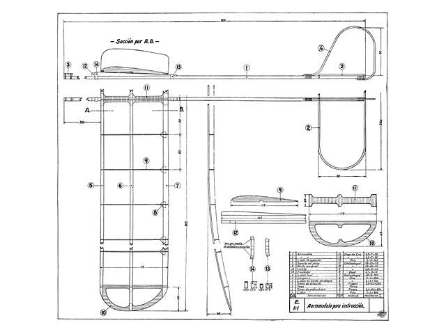 Aeromodelo Para Instruccion - 8050