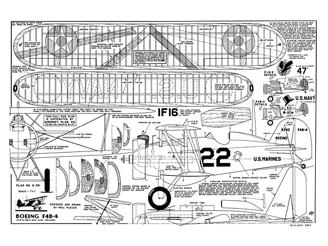 Boeing F4B-4 (oz8075) by Paul Plecan from Aircraft Plan Co