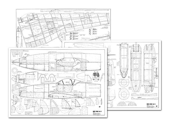 Me 262 A-1 Schwalbe - plan thumbnail image