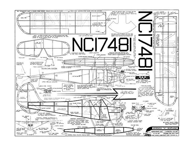 Aeronca K Seaplane plan