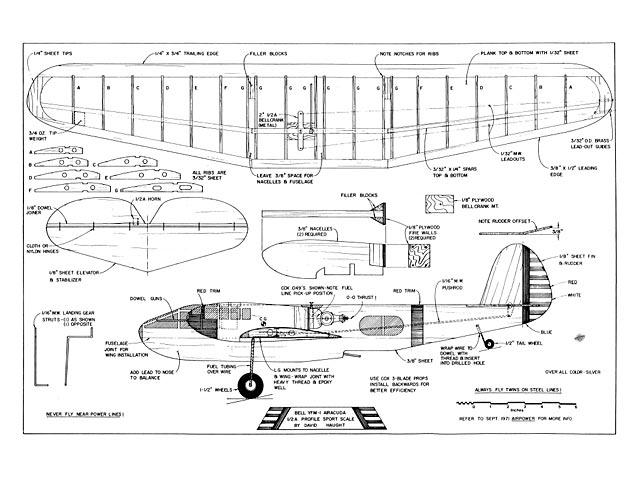 Bell YFM-1 Airacuda - plan thumbnail image