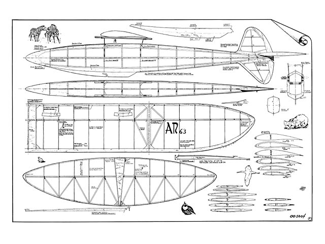 AR-63 - Luigi Arcesilai - L'Aviazione Popolare - 1946 - 60in