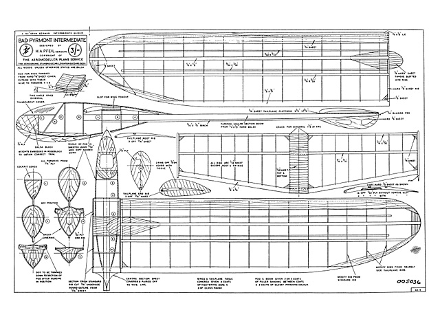Bad Pyrmont Intermediate (oz8272) by HA Pfeil from Aeromodeller Annual 1949