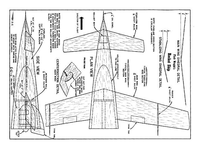 Rocket Ship - 8288