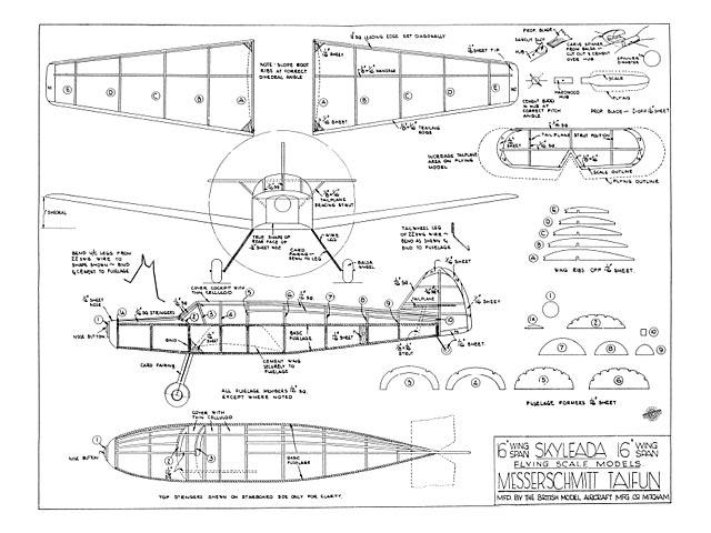 Messerschmitt Taifun - plan thumbnail image