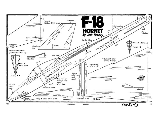 F-18 Hornet - plan thumbnail image