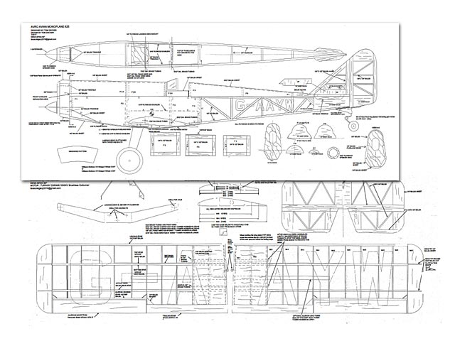 Avro Avian Monoplane 625 - plan thumbnail image