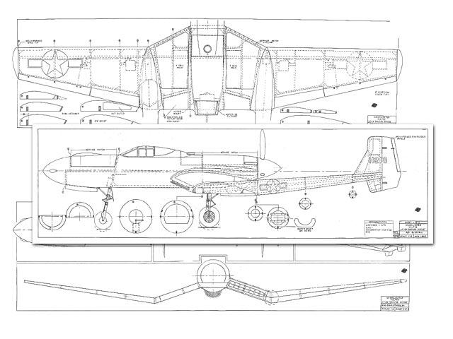 Vultee XP-54 Swoose Goose - 8422