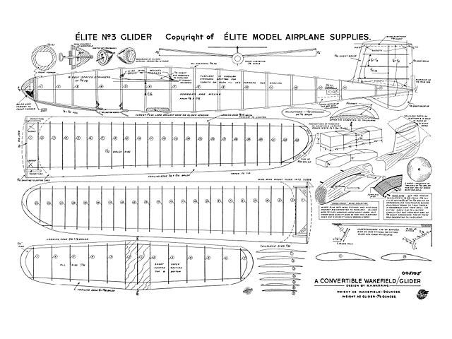 Elite No.3 (oz8440) by Ron Warring from Elite Model Aeroplane Supplies