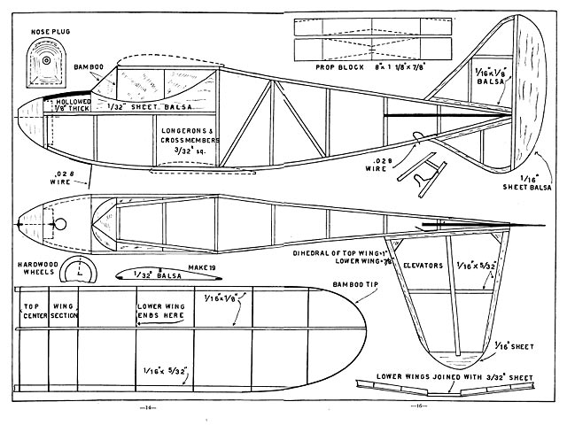Biplane Sportster plan - Free download - Outerzone