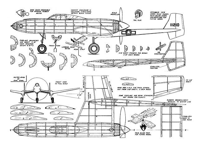 Vultee XP-54 - 8561
