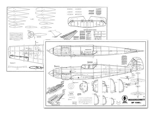 Messerschmitt Bf 109e-3 Plan - Free Download