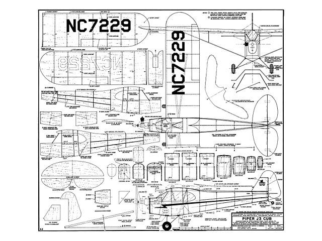 Piper J3 Cub - plan thumbnail image